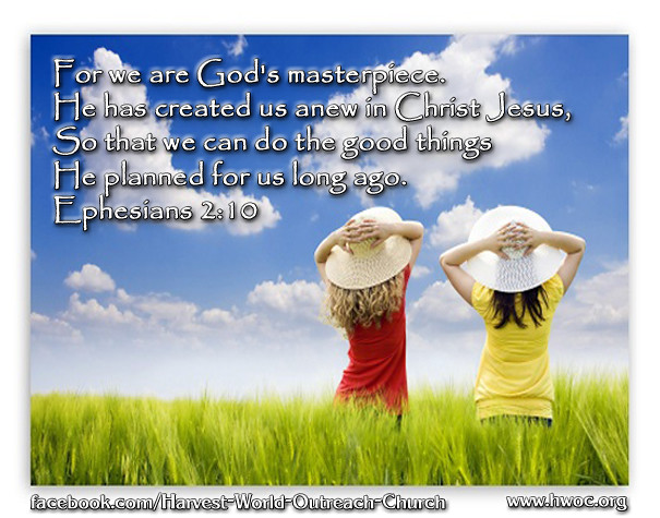 Picture Quote On Ephesianns 210 Niv: Harvest World Outreach Church
