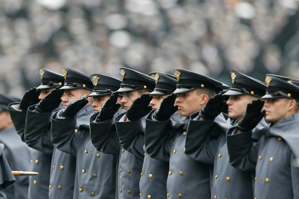 Army Navy Game Salute The U S Military Academy Corps Of