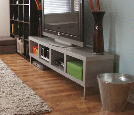 ikea lack silver tv stand z4sale flickr. Black Bedroom Furniture Sets. Home Design Ideas