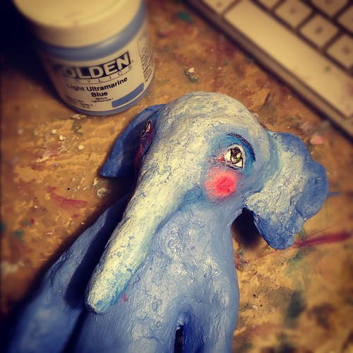 Little elephant statue. Painting has begun. :) | by willowing