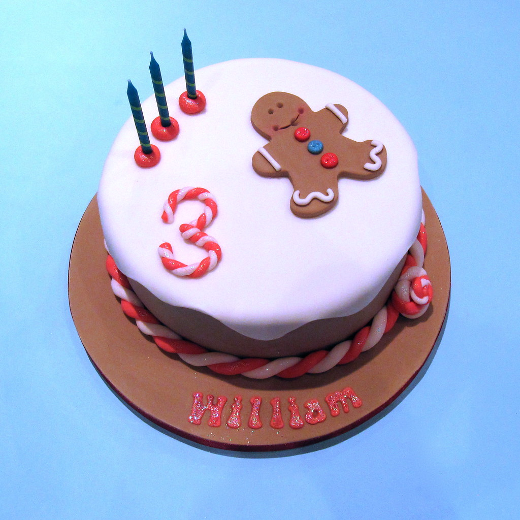 Gingerbread Man Cake A 3rd Birthday Cake For My Little Boy Flickr