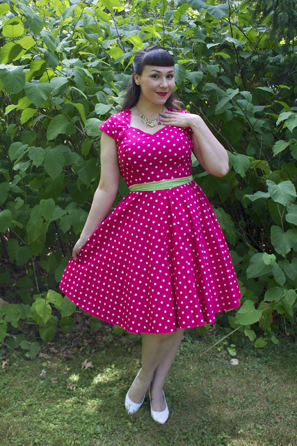 polka dot pinup dress