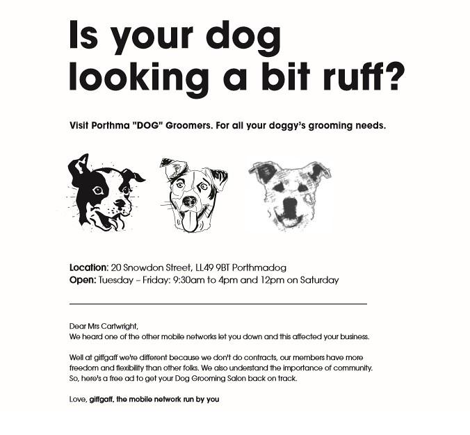 giffgaff dog ad