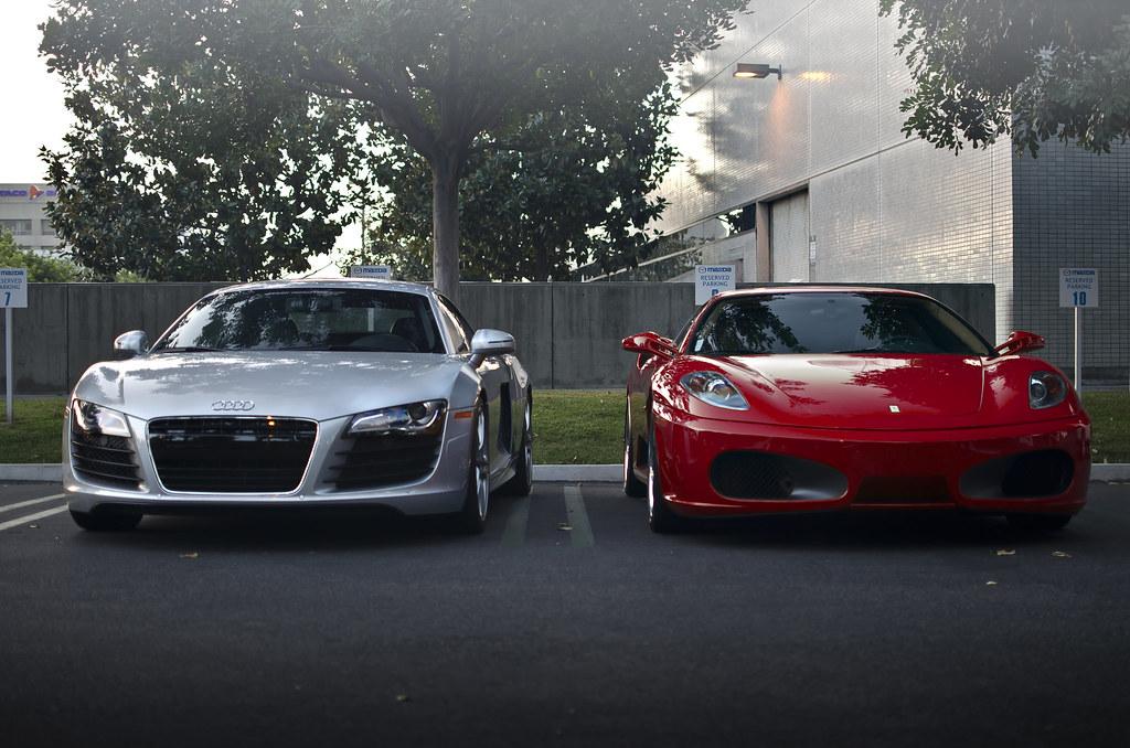 Audi R8 Vs Ferrari F430 Audi R8 Vs Ferrari F430 Flickr
