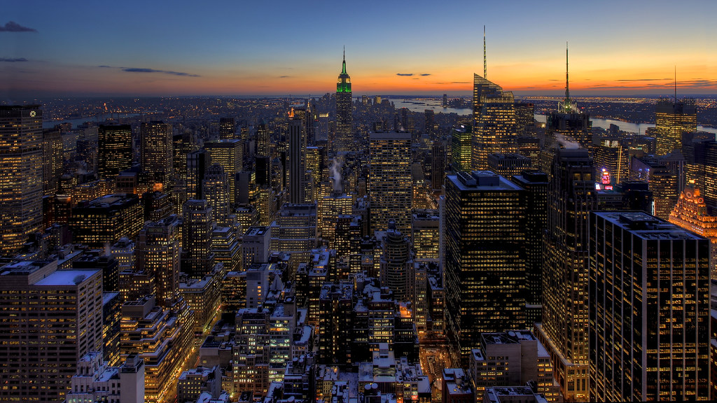 Snow Covered Manhattan Sunset Gallery And Prints M Flickr