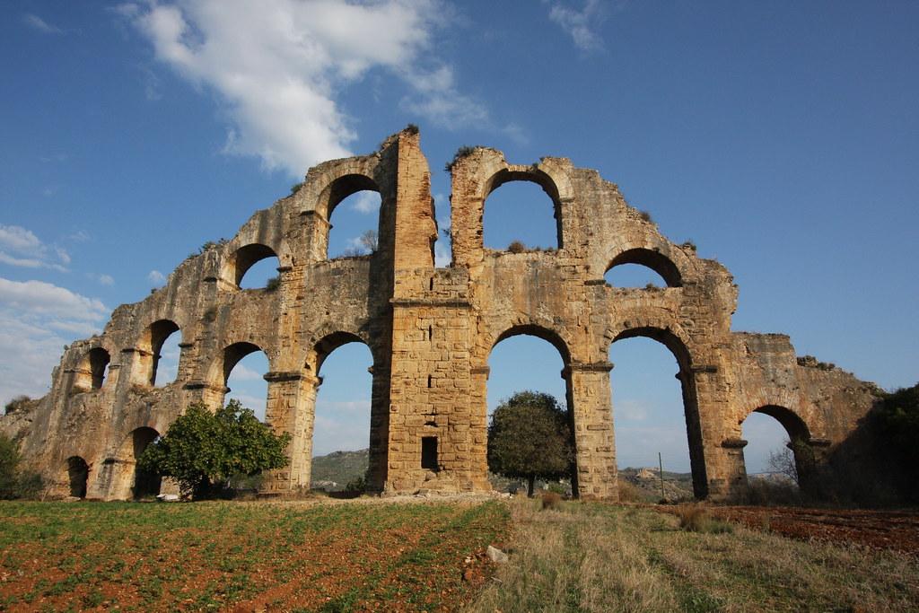 Image result for aqueduct aspendos