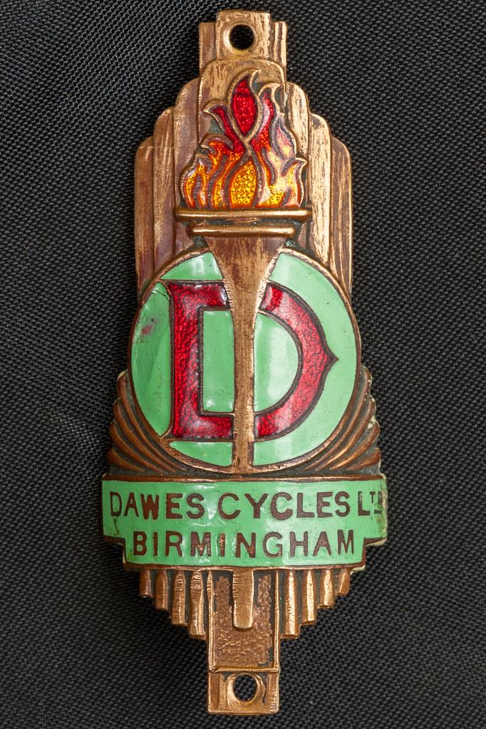 Dawes head badge | Dawes Cycles Ltd Birmingham 76.7mm x 31 ...