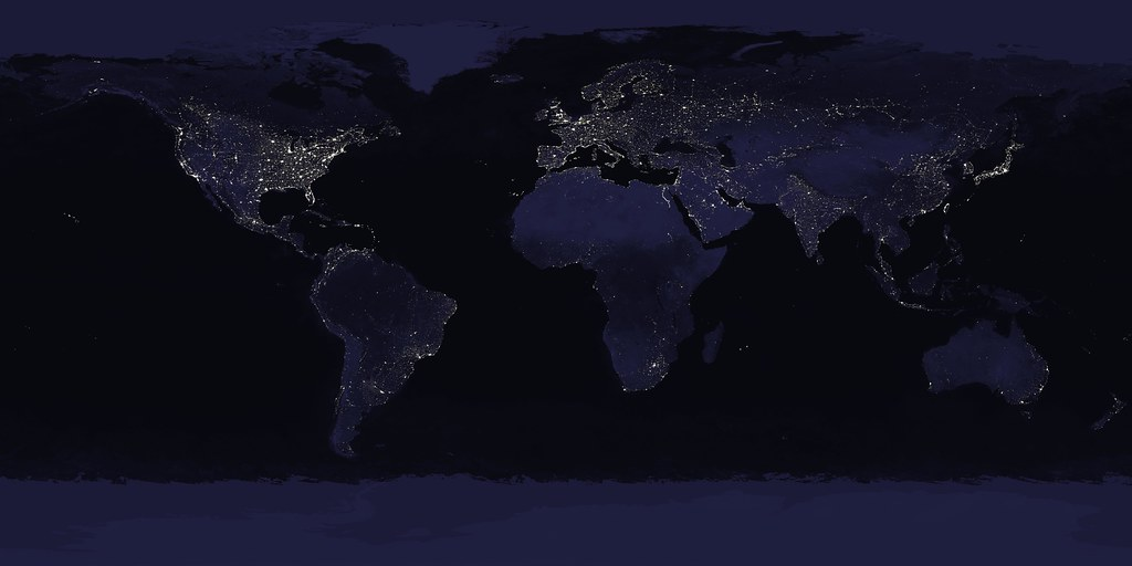 World map city lights picture ideas references world map city lights earth u s city lights by nasa goddard photo gumiabroncs Choice Image