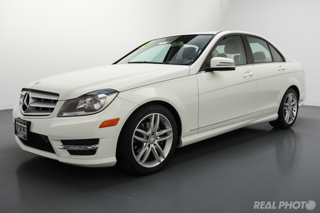 ... 2012 Mercedes Benz C300 White | By Real Photo Services