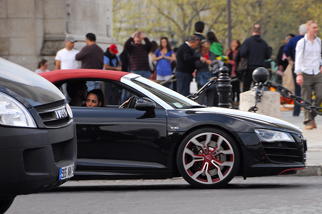 R8 V10 car - Color: Black  // Description: amazing