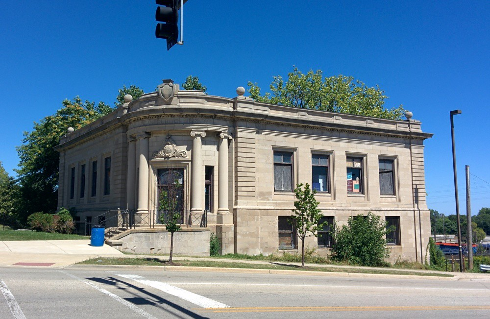 Carnegie Hall - Waukegan Public Library at Bradbury's time