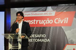Presidente do Sinduscon-MG Jovem, Daniel Katz (Gladyston Rodrigues/Sinduscon-MG)