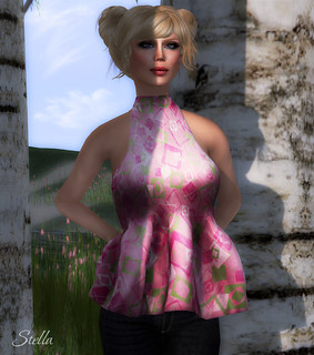AMD Esme mesh top (Retro Pink), Hair by Amacci (Mai) | by Stella Stapleton