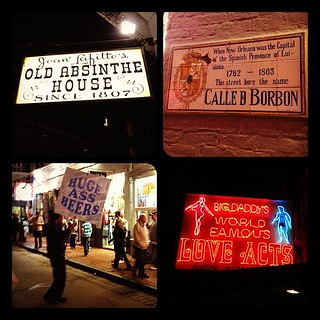 """Love Acts"" -Bourbon Street signs #neworleans 
