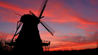 Sunset at the Fabyan Windmill | by basicbill