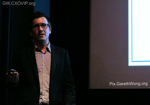 Cameron Saunders, UK MD 20th Century Fox Theatrical Division, Host of Q4 E/MBA Club, pre-screening before UK premier!! IMG_2414 | by garethwong