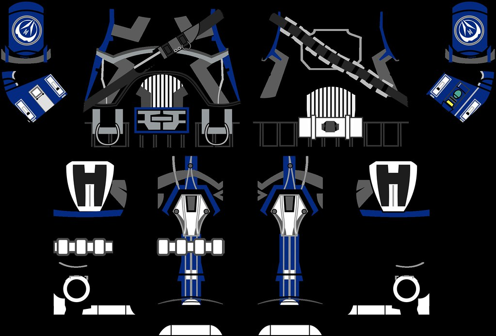 Starwars The Old Republic Trooper Decals Wtih Strap Blue