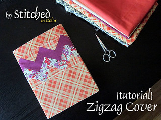 Zigzag Journal Cover Tutorial | by StitchedInColor