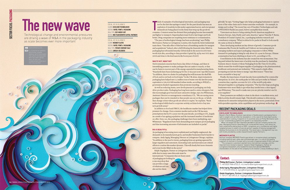 Quilled Waves | Created by Natasha Molotkova of ...