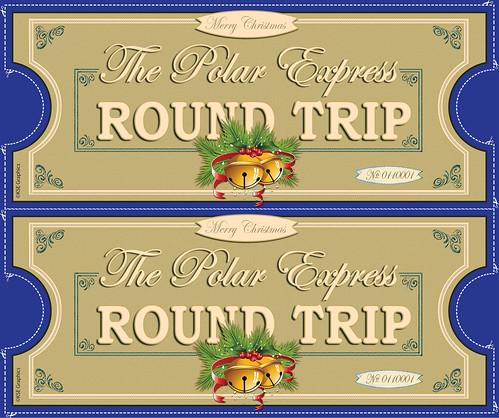 Polar Express tickets FRONT 2up BLUE | FREE PRINTABLE Polar ...