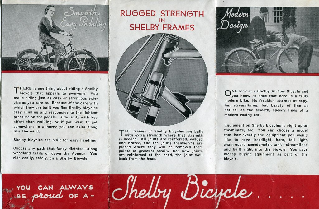 shelby bicycle fold out brochure 2 featuring the shelby flickr