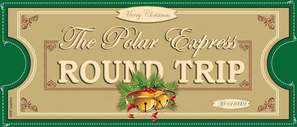 Polar Express tickets FRONT 1up GREEN | FREE PRINTABLE ...
