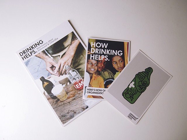 Charitea lemonaid sustainable fairtrade soft drinks booklets