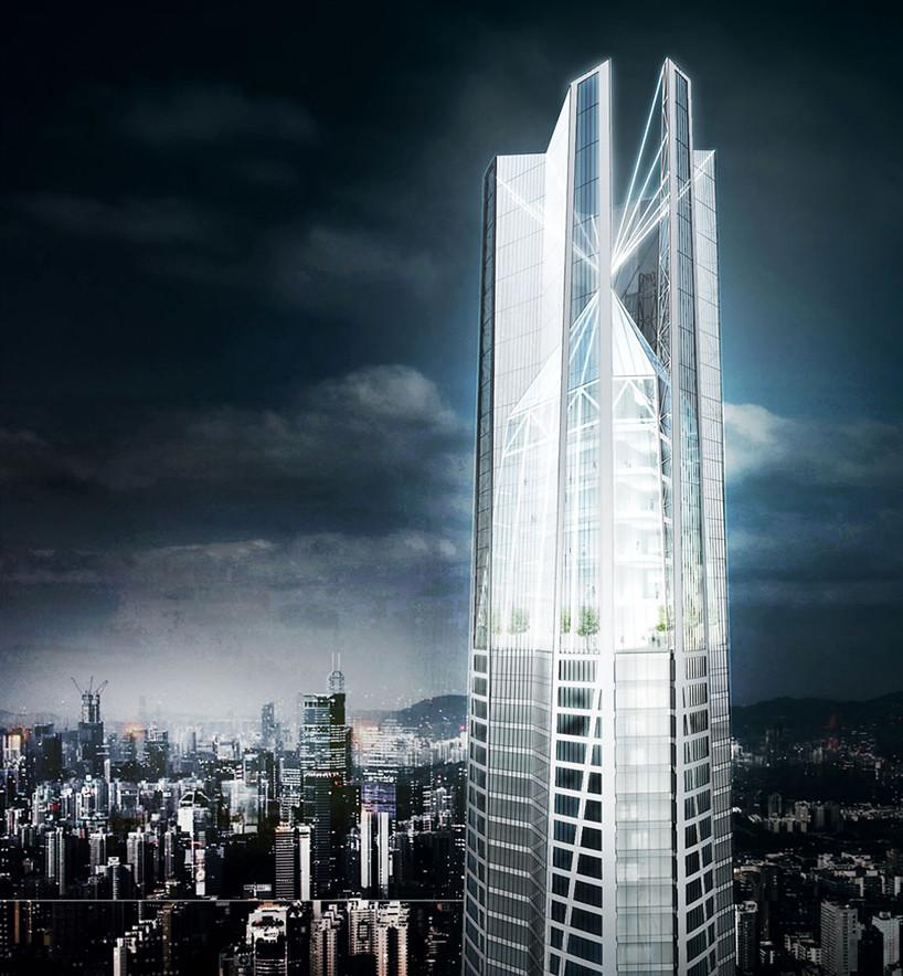 Самый высокий небоскреб в Китае высотой 739 метров