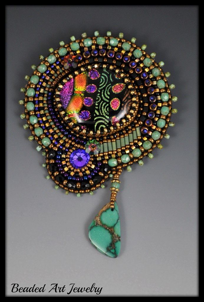 Bead embroidered brooch susan flickr