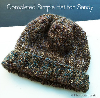 Knitted Sandy Relief hat | by thestitcherati