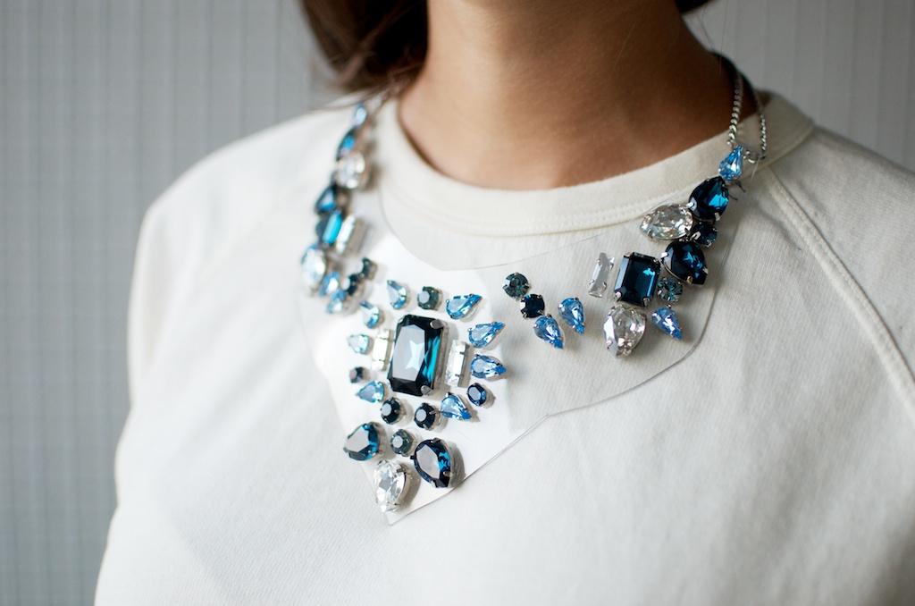 diy Shourouk inspired necklace final 2