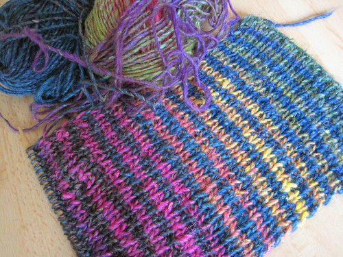 Noro Striped Scarf WIP | by twiddletails