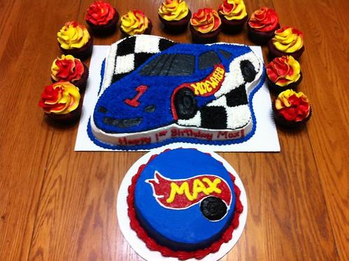 Race Car Themed Smash Cake