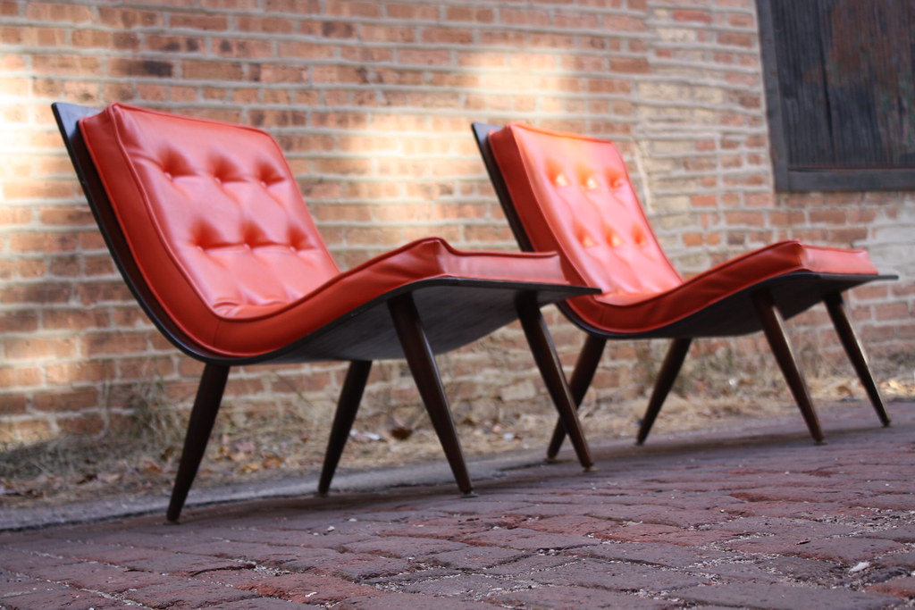 ... Graceful Carter Brothers Furniture Mid Century Modern Scoop Chairs  (U.S.A., 1958) | By