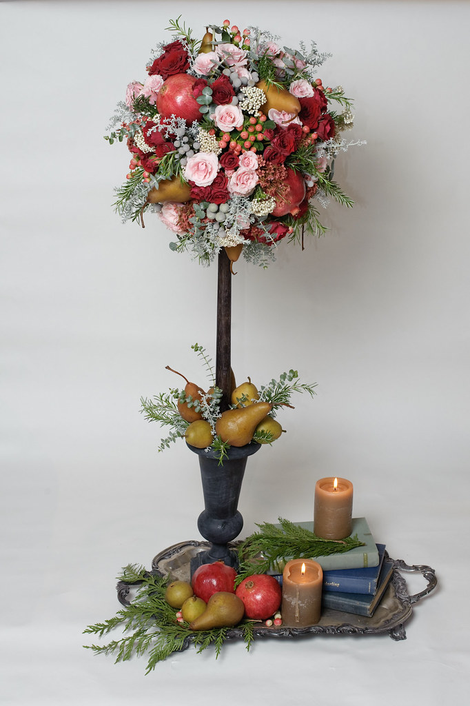wedding centerpiece fruit flower