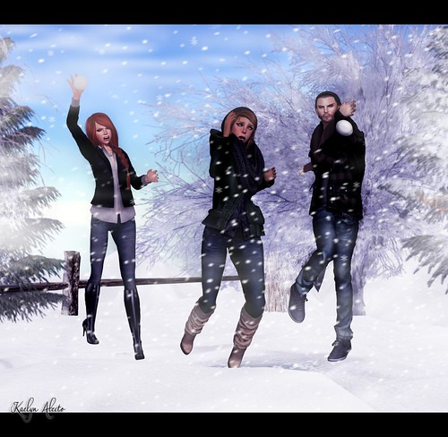 Snowball fight.... with love :P | by Kaelyn Alecto