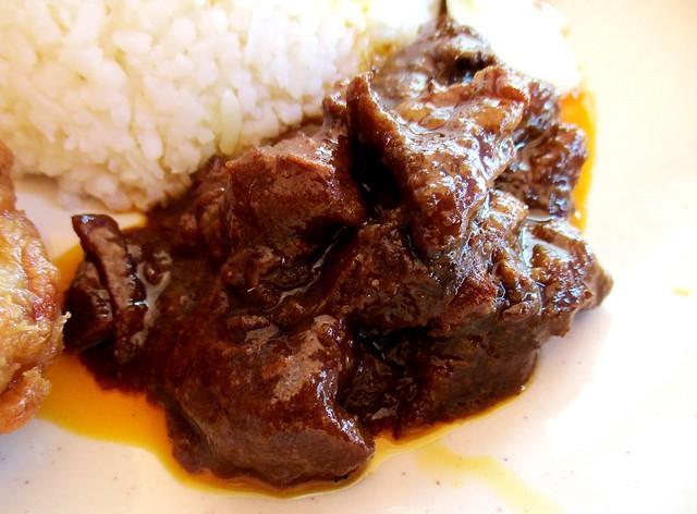 Fast Cafe nasi lemak special, masak hitam beef