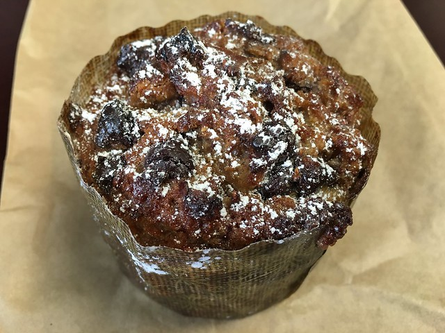 Raspberry, peanut butter and chocolate bread puddin' - Arizmendi Bakery