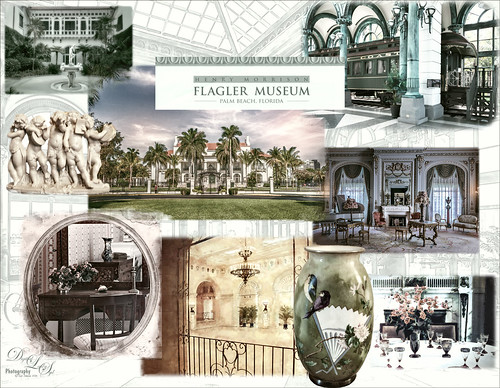 Montage of images from Flagler Museum in Palm Beach, Florida