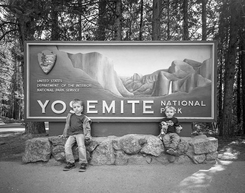 Oliver and Henry at the entrance to Yosemite Valley - September 2016 - shot on HP5 400 | by kern.justin