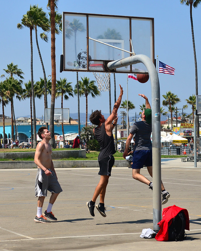 Cancha de baloncesto en Los Angeles