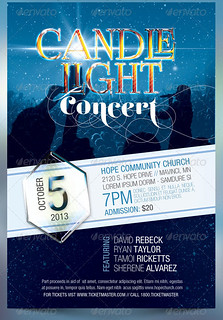 Candle Light Concert Flyer Templates | by godserv