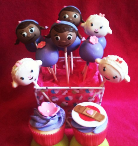 Doc Mcstuffins Birthday Cake Pops