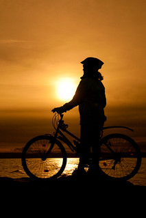 Sunset Cyclist | by juliereynoldsphotography