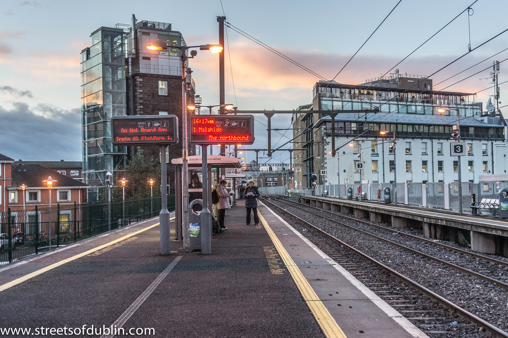 Dart Station At Grand Canal Dock Dublin Grand Canal