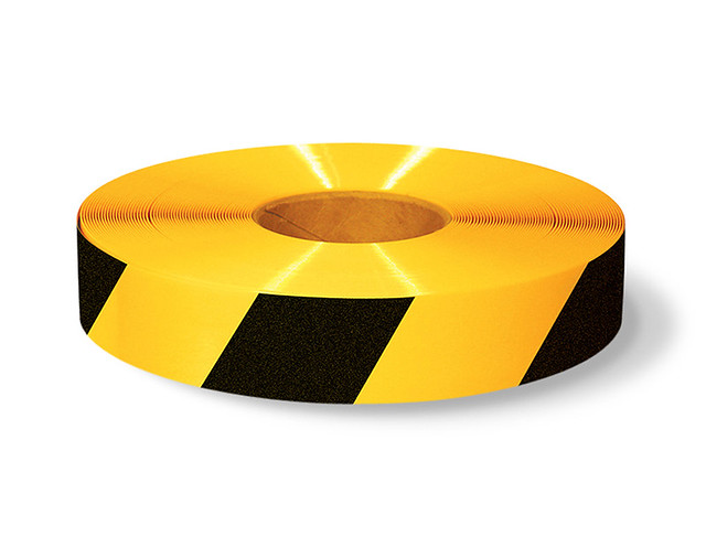 Comblack And Yellow Floor Tape : Comblack And Yellow Floor Tape : Yellow Mighty Line Floor Tape