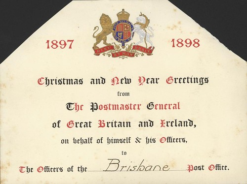 Christmas card sent to brisbane post office from the postm flickr - Great britain post office ...