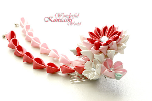 how to make tsumami kanzashi