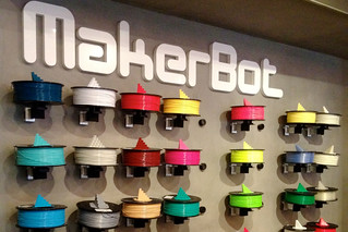 Wall o filament in NYC at the makerbot store | by andrewsharmon