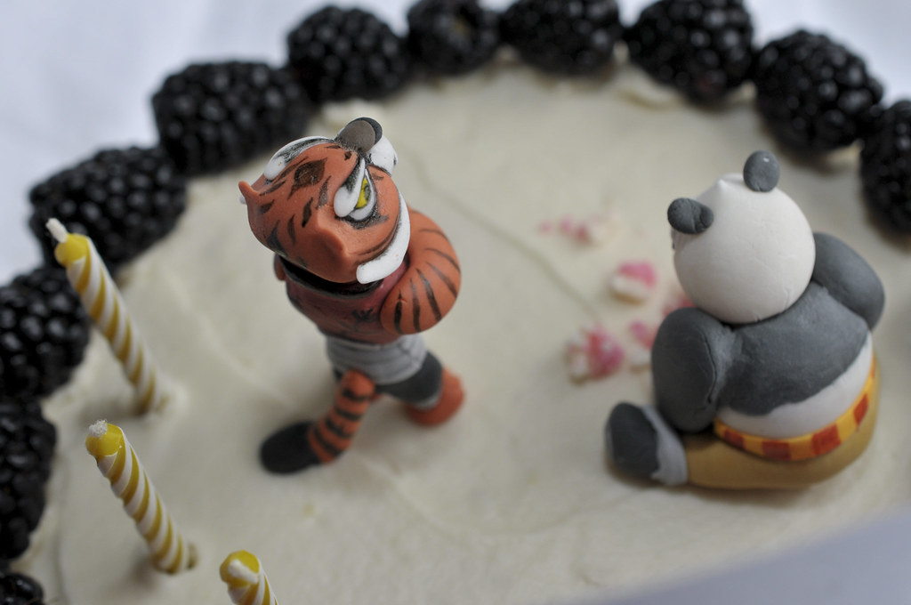 Making The Kung Fu Panda Birthday Cake Top View Of Complet Flickr